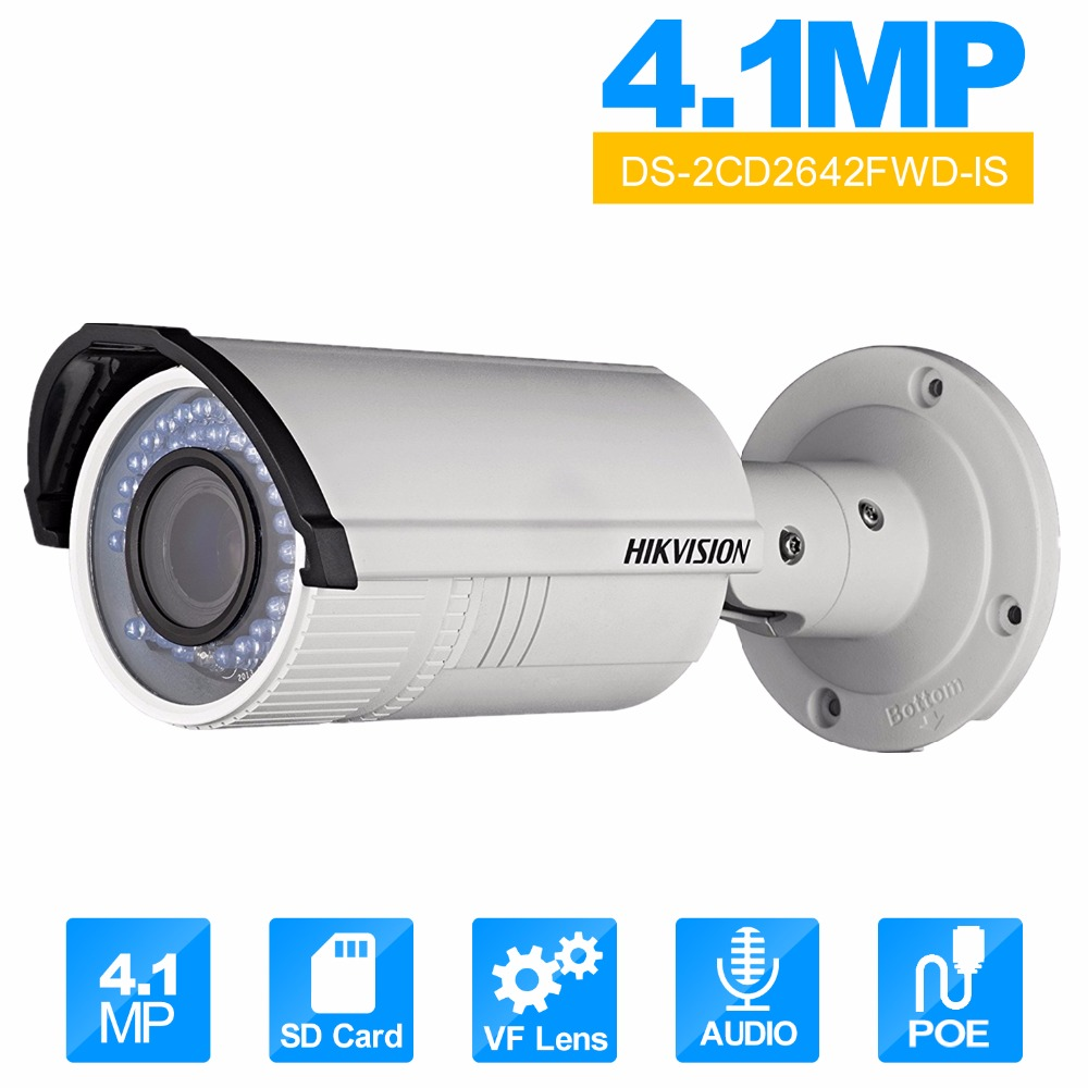 Vari Focal IR Bullet IP Camera English Version DS 2CD2642FWD IS 2 8 12mm lens IP