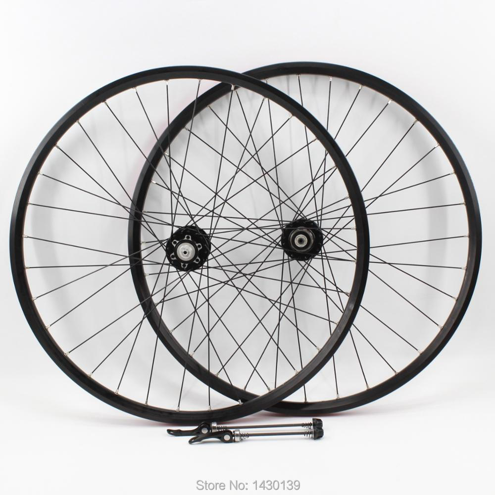 New 20/26/27.5/29er inch Mountain bike Aluminum alloy bearing disc brake hubs bicycle clincher rim wheelset MTB black Free ship aluminum alloy bicycle crank chain wheel mountain bike inner bearing crank fluted disc mtb 104bcd bike part