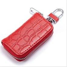 1 шт. брелок для ключей из искусственной кожи для мужчин и женщин, органайзер, сумка для ключей в автомобиле, бумажник ключница, кошелек для ключей