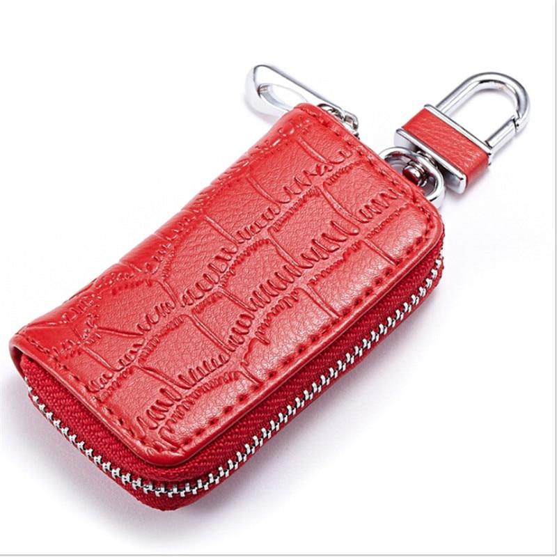 1 Stück Pu Leder Keychain Männer Frauen Schlüssel Halter Veranstalter Beutel Auto Schlüssel Tasche Brieftasche Haushälterin Key Brieftasche Elegant Im Stil