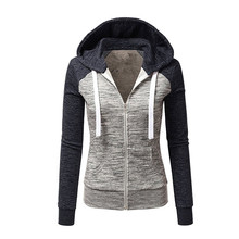 Autumn and winter new European and American foreign trade fashion hoody Coat with color baseball jacket short coat