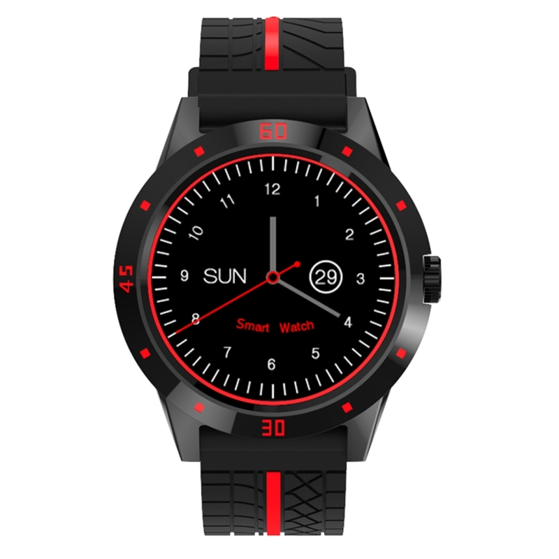 Haweel Smart Wristwatch With Heart Rate Monitor 1 3 TFT Screen MTK2502C Silicone Strap Bluetooth Smart