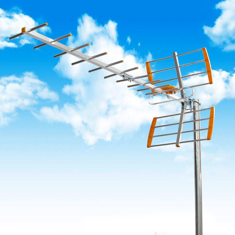 001 Outdoor TV Antenne Antennen Für DVBT2 HDTV ISDBT ATSC HDTV Digital Hohe Verstärkung Starke Signal DVB TV Antenne 470 mhz-860 mhz