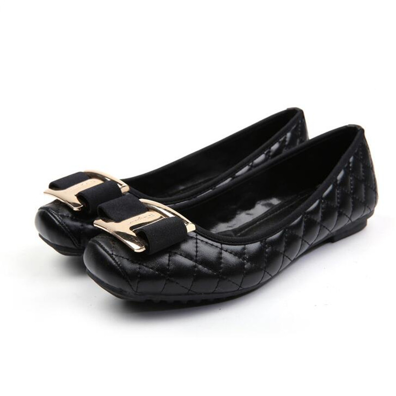 women ballet flats slip on casual shoes female work shoes office flats leather boat shoes mocasines mujer zapatillas XK120804 ballet shoes