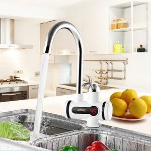 Image 2 - ATWFS anlık haznesiz su ısıtıcı musluk anlık musluk mutfak su ısıtıcı vinç anında sıcak su musluk dijital ab tak