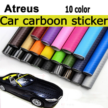 Atreus 10color 30*127cm Car-styling Carbon Fiber Sticker For BMW e46 e39 e36 X5 6 Audi a4 b6 a3 a6 c5 Renault duster Lada granta universal diy pvc carbon fiber decorative car sticker black 30 x 127cm