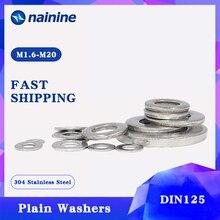 50/100 шт DIN125 ISO7089 M1.6 M2 M2.5 M3 M3.5 M4 M5 M6 M8 304 Нержавеющая сталь плосковязальной машине; шайба прокладки HW001