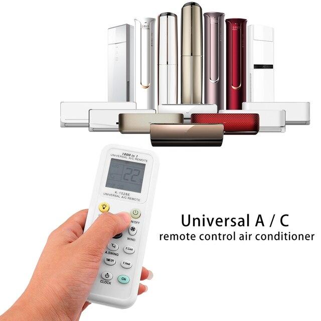 Universal K-1028E Latest 1000 in 1 AC Remote Control for Air Conditioner Condition LCD Backlight A/C Muli Remote Control