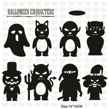 YaMinSanNiO Clear Stamps for DIY Scrapbooking/Card Making/ Halloween Ghost Witch Supplies