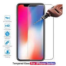 Tempered Glass For iPhone 6 6s 7 8 Plus For iPhone X XS MAX 4 4s 5 5s SE Screen Protective Film Glass Protector For iPhone XS XR protective plastic back case with folding stand screen protector for iphone 4 4s green