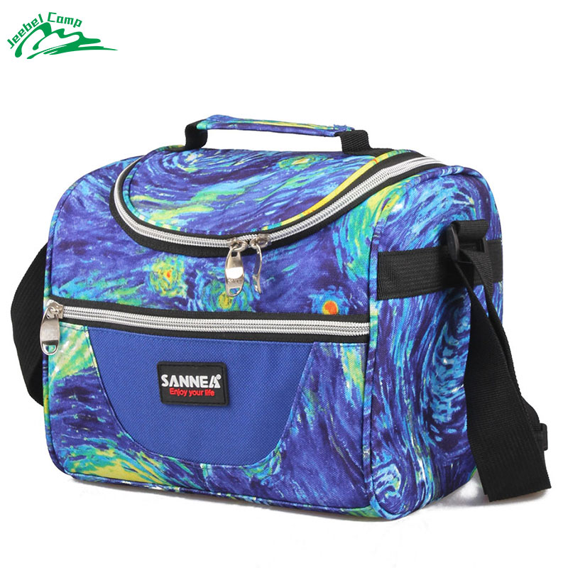 Jeebel 7L Cooler Lunch Bags Insulated Thermal Lunch box Picnic Tote Portable Handbags Refrigerator Kids Camping Bag Shoulder