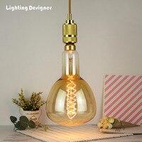 Big size ER160 ER52 vintage edison light bulb incandescent decorative bulb E27 220V 60W Filament antique retro Edison lamp