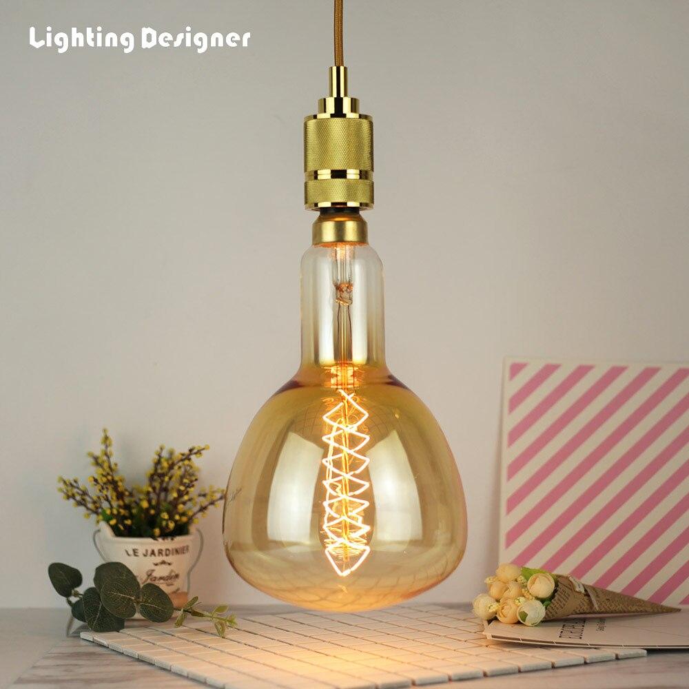 Grande taille ER160 ER52 vintage edison ampoule incandescente ampoule décorative E27 220 V 60 W Filament antique rétro Edison lampe