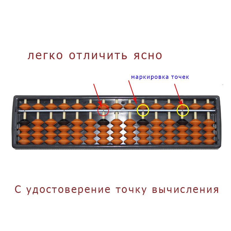 Plastic Abacus Arithmetic Soroban 15 Digits Kids Maths Calculating Tools Chinese abacus toys abacus educational 23*6.5*1.5cm