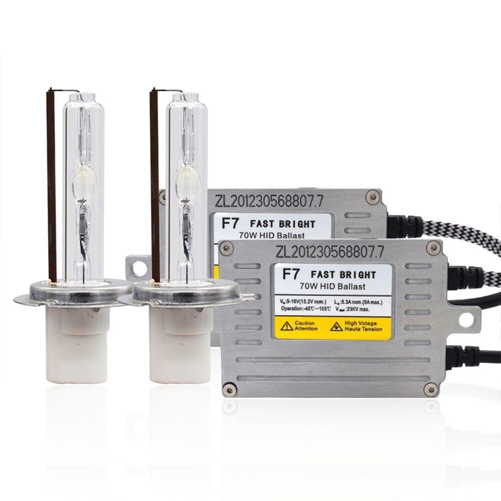 Комплект керамических HID-ламп, 70 Вт, H1, H7, H11, 9005, 9006, 4300, D2H