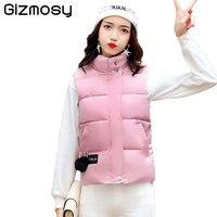 2017 New Vest Women Cotton Waistcoat Warm Hooded Jacket Vest Female Jacket Short Outerwear Plus Size