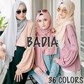 Una pieza de alta calidad de las mujeres calientes mantones del georgette larga bufanda musulmán islámico burbuja llana sólida de la gasa headwear wraps hijabs