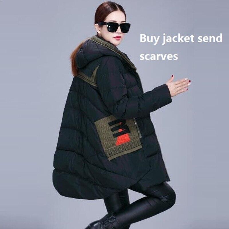 2015 New Fashion Long Duck Down Parka fur coat Winter jacket women thick Warm Down jacket