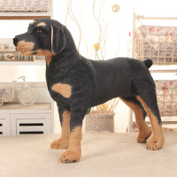 new style about 38x35cm simulation dog standing Rottweiler plush toy doll Christmas gift w1921