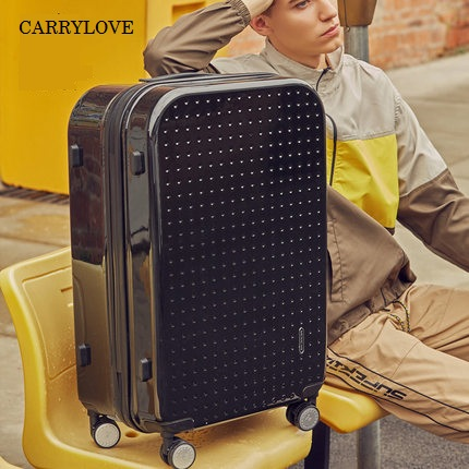 CARRYLOVE عالية الجودة ، أنيق ، 100% الكمال 20/24 بوصة حجم ABS + PC المتداول الأمتعة سبينر العلامة التجارية السفر حقيبة-في حقائب سفر بعجلات من حقائب وأمتعة على  مجموعة 1
