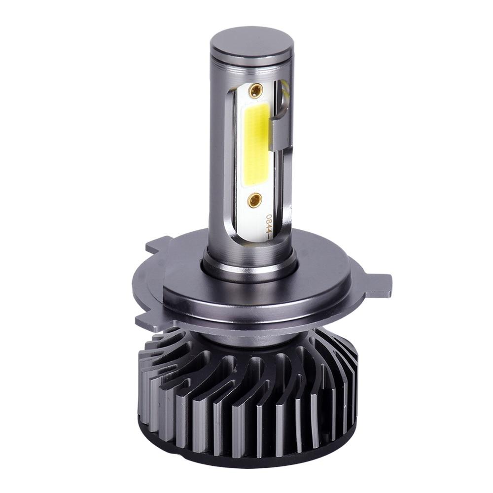 Infitary H7 H4 Автомобильный светодиодный головной светильник лампы H1 H11 H3 H27 880 9005 9006 9007 72 Вт 8000LM 6500K 12V Авто Светодиодный Фонарь налобный мини-фонарь COB Туман светильник