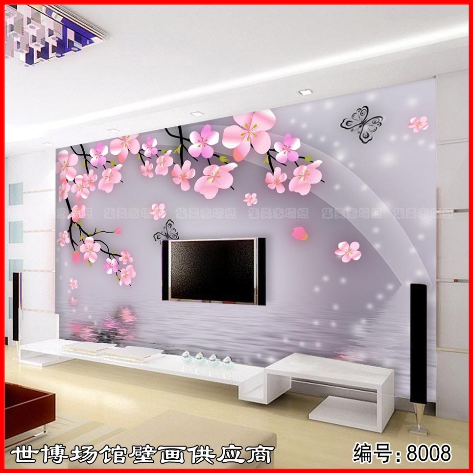 Large 3d mural wallpaper sitting room background wall paper wall cloth waterproof bedroom The plum blossom scenery wall sticker custom baby wallpaper snow white and the seven dwarfs bedroom for the children s room mural backdrop stereoscopic 3d