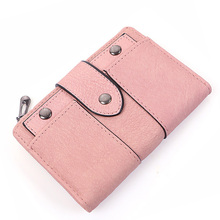 Купить с кэшбэком New Luxury Women Wallets Fashion Zipper Hasp Leather Wallet Purse Short High Quality Female Coin Credit Card Holder Clutch Lady
