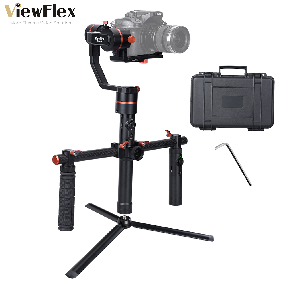 TARZAN M(A) 3-Axis Handheld Gimbal Stabilizer+ Electronic Dual Handle Grip for Sony A7SIII/Panasonic GH4 5/Canon EOS 5D Mark IV yuneec q500 typhoon quadcopter handheld cgo steadygrip gimbal black