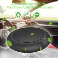 Car Air Purifier with HEPA Filter Portable Anion Ozone Deodorization Air Purifier Mini USB Car Air Freshener Purifying