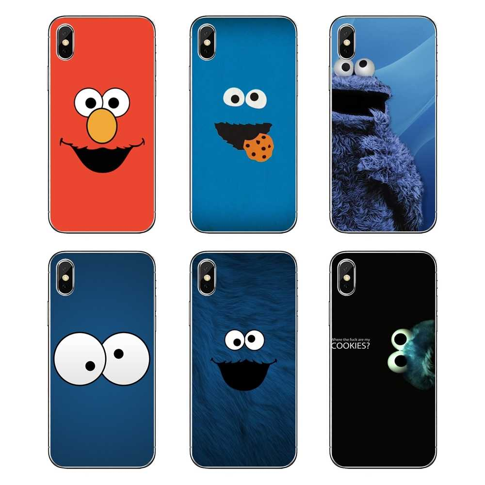 Blue Cookie Monster Sesame Street Smiling For Ipod Touch