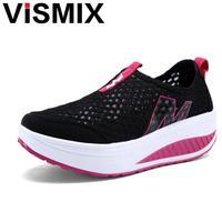 מכירה חמה 2017 הדפסת האופנה פרחונית VISMIX Evelator פלטפורמת עור נעליים מזדמנים 5 ס