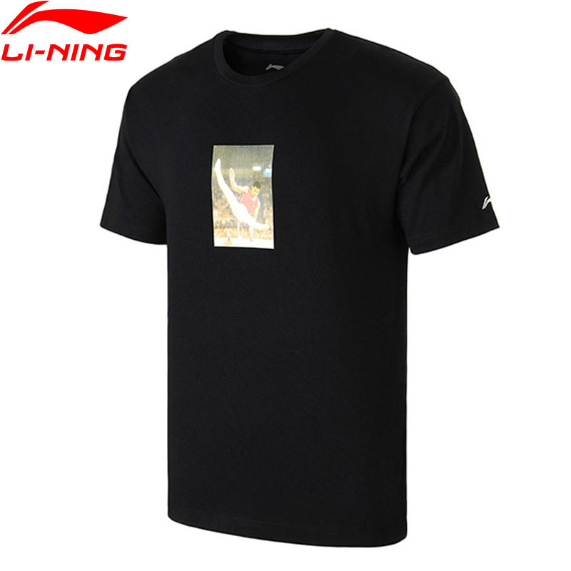 Li-Ning Men T-Shirt NYFW VINTAGE Mr. Li OG PRINT TEE Regular Fit 100% Cotton LiNing T-shirts AHSN741 MTS2756 цена