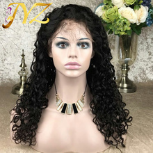 Human-Hair Wigs Bleached Knots Full-Lace Hairline Pre-Plucked Super-Wave Brazilian 8--28-in-Stock