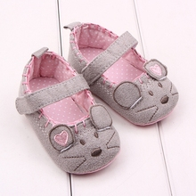 Hot Beautiful Mouse Design Soft Sole Toddler Baby Girl First Step Casual Shoes For 0-15 Months