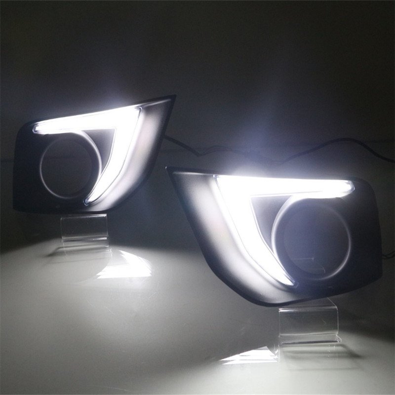 front led fog light lamp drl daytime running lights for toyota rav4 2016 2017. Black Bedroom Furniture Sets. Home Design Ideas