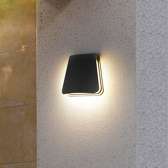 Garden Wall Lamp Outdoor Porch Corridor Wall Light IP65 Waterproof Home Decoration Lighting 12W LED Lamp AC110V/220V Aluminum