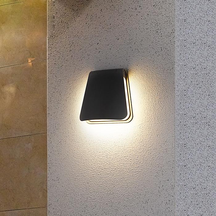 Garden Wall Lamp Outdoor Porch Corridor Wall Light IP65 Waterproof Home Decoration Lighting 12W LED Lamp AC110V/220V Aluminum