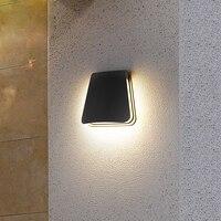 Ściana ogrodu lampa ganek zewnętrzny na ścianę W korytarzu światło IP65 wodoodporne oświetlenie do dekoracji domu 12W LED lampa AC110V/220 V aluminium w Zewnętrzne lampy ścienne od Lampy i oświetlenie na