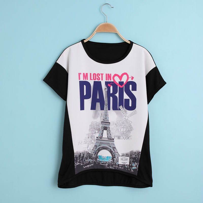 Summer style new printing t shirts short sleeves women 39 s t for T shirt print dimensions