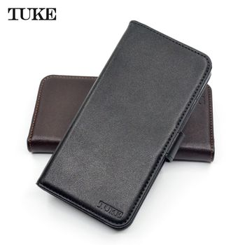 TUKE For Oneplus 5T Case Oneplus5T 360 Cover Genuine Leather Capa Soft TPU Funda For Oneplus 5 T Smartphone Protector Flip Para