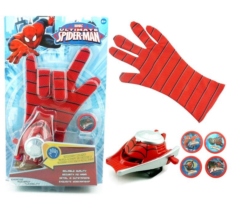 1PC 24cm <font><b>Adult</b></font> Kids Suitable <font><b>Spiderman</b></font> Cosplay Costume Spider-man GloveS Spider man Launchers Toy With Fine Gift Box