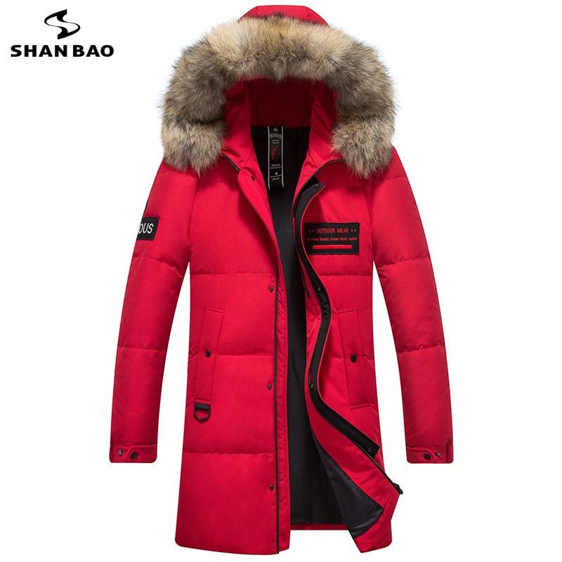 Hiver épais chaud vers le bas veste personnalité brassard broderie de mode de fourrure de luxe de haute qualité blanc duvet de canard hommes vers le bas manteau