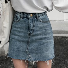 Summer Black Blue Jeans Skirt Women Casual Korean Basic Section A-line Denim Skirt Women Vintage Minimalism High Waist Skirt 2019 korean summer vintage sweet preppy style skirt women jeans blue suspender skirt blue casual denim straps overall mini skirt