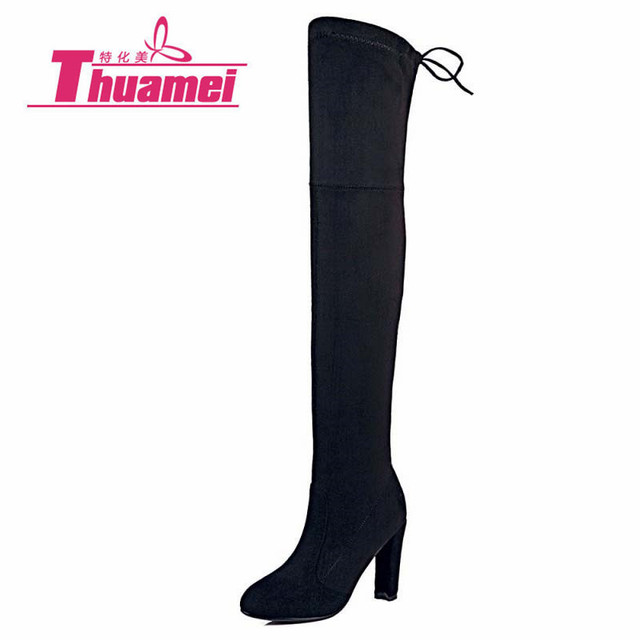 aec66080b5c Faux Suede Slim Boots Sexy over the knee high women snow boots women s  fashion winter thigh high boots shoes woman  Y1159855F