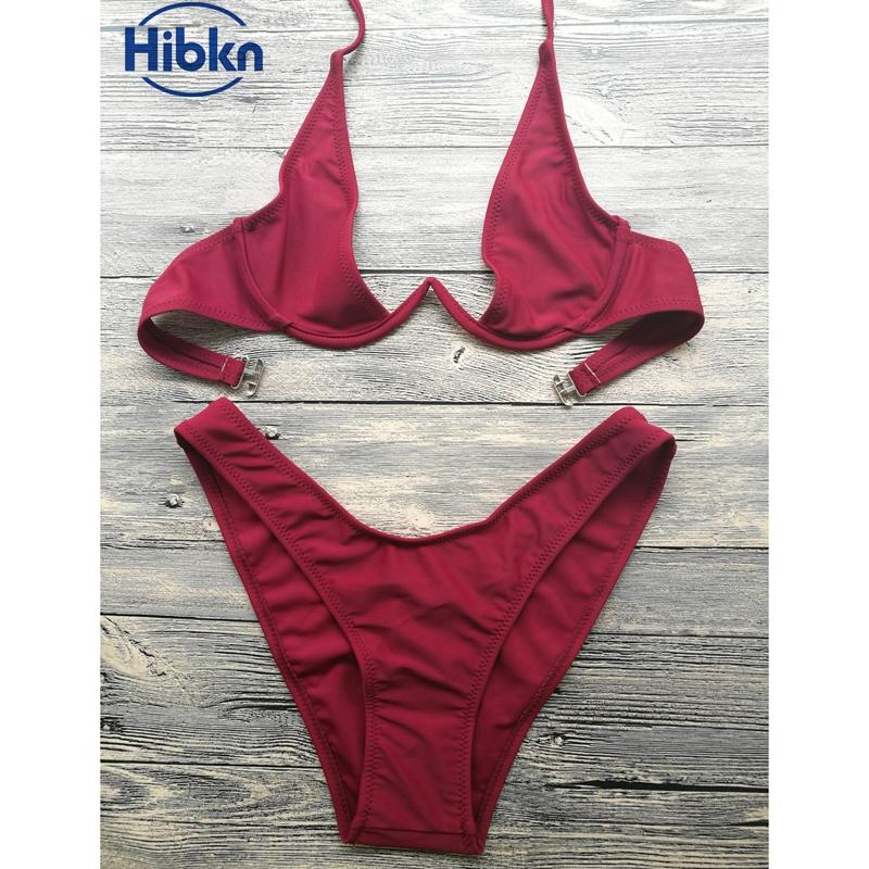 Bikini 2017 wysoka cut stringi stroje kąpielowe kobiety Brazylijski Biquini strój kąpielowy wysokiej talii strój kąpielowy Stałe pływać plaża micro bikini set 13