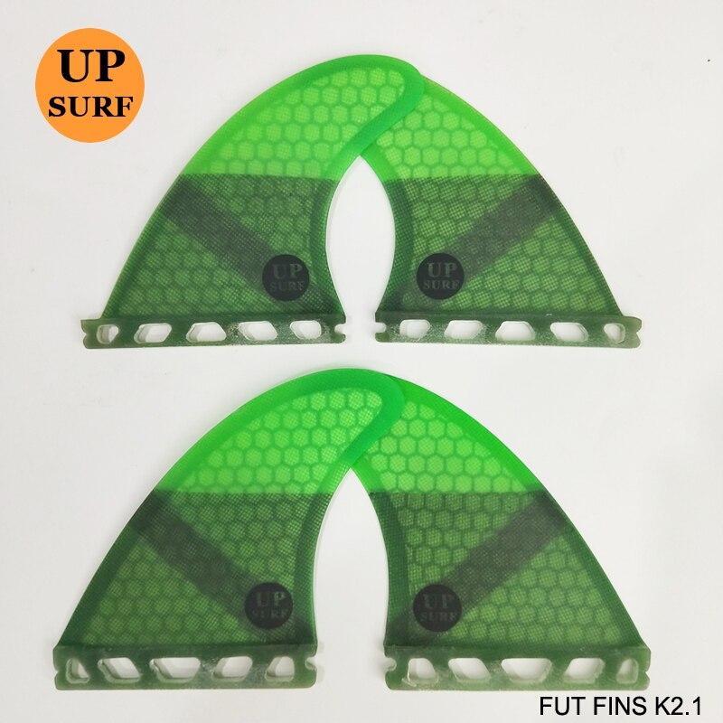 Planche de surf ailerons futurs K2.1 Quad Ailettes Honeycomb Quilhas L'avenir En Fiber De Verre Quille dans Le Surf 4 fin Set - 3