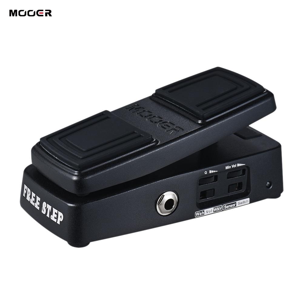 MOOER FREE STEP Guitar Pedal Wah Volume Guitar Effect Pedal Pressure Sensing Switch True Bypass Full