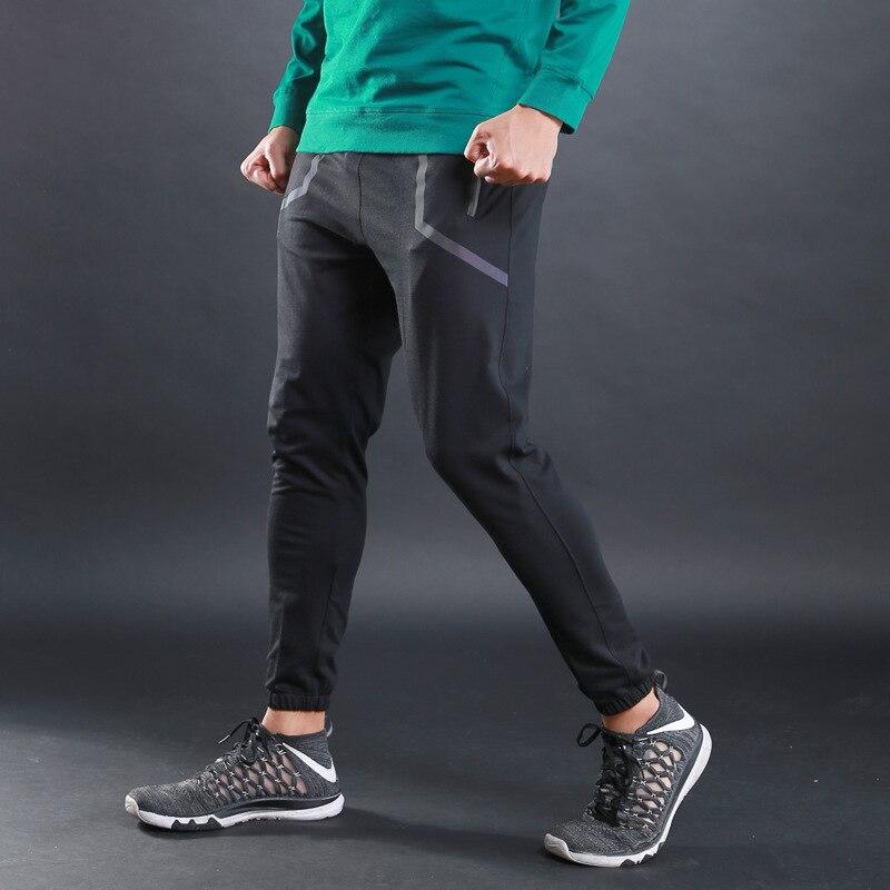 Winter sports fitness men running pants wide running