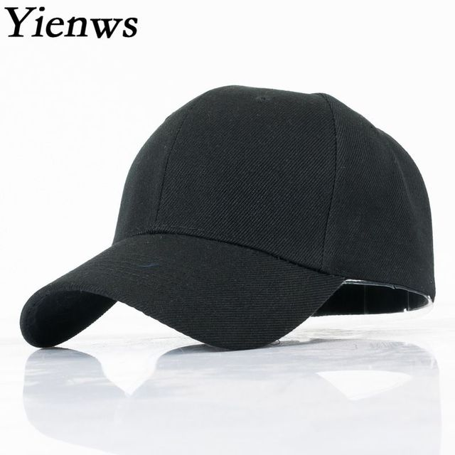 Yienws черная однотонная бейсболка для мужчин и женщин Простые мужские кепки Casquette Homme Gorras Mujer красная армейская зеленая Базовая шапка YIC615