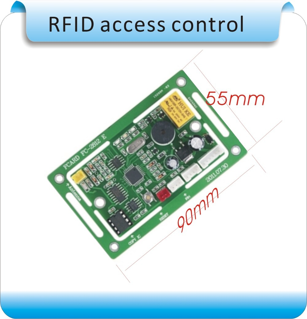 DC-12V FC - 2818-125 KHZ RIFD embedded entrance guard controller, access control module, remote registered users+10pcs ID card